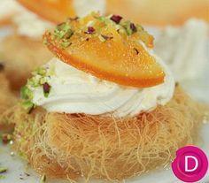 «Φωλιές» από κανταΐφι με μους γιαουρτιού και σιρόπι πορτοκαλιού | Dina Nikolaou