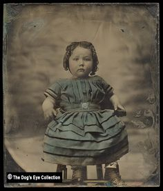 Tinted Toddler Girl's Portrait:  Ambrotype c.1860 by The Dog's Eye, via Flickr