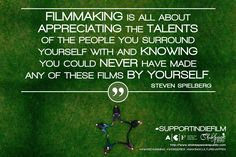 """Filmmaking is all about appreciating the talents of the people you surround yourself with and knowing you could never have made any of these films by yourself."" - Steven Spielberg  Do you #SupportIndieFilm?  Help us achieve our target: https://australianculturalfund.org.au/projects/shakespeare-republic-the-next-stage/  #stevenspielberg #collaboration #independentfilm #quote #filmmaking #webseries #crowdfunding #femaledirector #womeninfilm #MakingCultureHappen #Shakespeare #lovethebard"