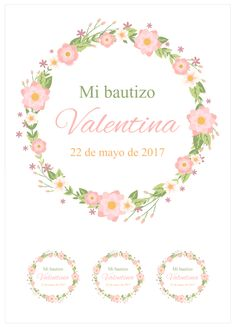 Ver producto: Modelo nº 833: Bautizo flores rosas - tarta