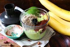 Nutella z awokado i banana - Madame Edith Nutella, Acai Bowl, Pudding, Breakfast, Food, Acai Berry Bowl, Morning Coffee, Custard Pudding, Essen