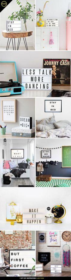 DIY INSPIRATION | Light Box