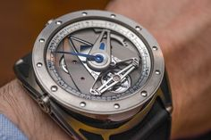 """De Bethune DB82 GS """"Grand Sport"""" Watch Hands-On -""""Anyone who knows the brand can spot a De Bethune from across the room, their distinctive styling and host of signature elements make them one of the most recognizable names in the esoteric world of independent haute-horlogerie manufacturers. De Bethune has kicked off the 2015 release season with the DB28 GS, a new addition to the DB28 family that offers a more sporty interpretation of the platform..."""""""