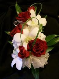 36. Dendrobium Orchid and Spray Rose corsage