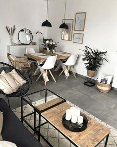 Boho Living Room, Living Room Interior, Home Interior Design, Home And Living, Living Room Decor, Bedroom Decor, Small Living Dining, Wall Decor, Apartment Living