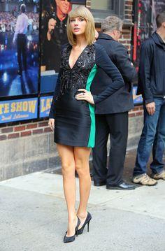 Taylor Swift à son arrivée au Late Show de David Letterman