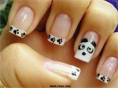 Very cute manicure game with so many colors and patterns of Nail Polish and extras as a file of nails.Nail designs art for the 2013 season. Love Nails, How To Do Nails, Pretty Nails, Fun Nails, Easy Nails, Simple Nails, Panda Nail Art, Do It Yourself Nails, Nagellack Design