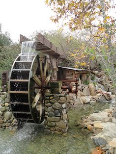 This is a water wheel from the Irvine park. I really liked the whole scene and tried to capture this tiny corner into a nice picture. Irvine Park, Old Grist Mill, Water Powers, Water Mill, Country Scenes, Old Barns, Le Moulin, Covered Bridges, Architecture