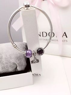 50% OFF!!! $119 Pandora Charm Bracelet Purple. Hot Sale!!! SKU: CB02041 - PANDORA Bracelet Ideas
