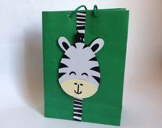 Sacolinha personalizada Zebra -Safari