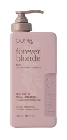 hairjamm, pure, forever blonde bath, hair, haircare, shea butter, argan, melon oil, reduces gold, sulphate free, paraben free, australian made, JuuceAustralia