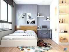 Thiết kế nội thất căn hộ 68m2 với 2 phòng ngủ theo phong cách hiện đại tại chung cư Masteri