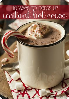 LOVE THESE!  10 ways to dress up hot chocolate packets