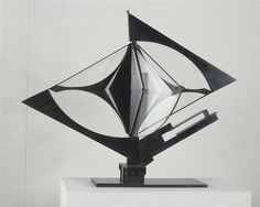 Antoine Pevsner, Construction in space, 1933, Metal aloy, National Museum of Modern Art - Georges Pompidou Center, Paris