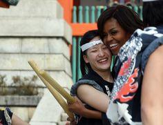 Michelle Obama trommelt für Japan