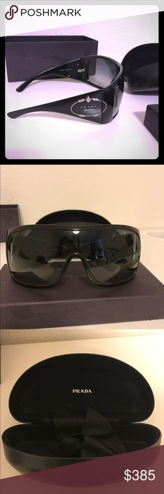 e122d5a8a57 Authentic Prada Sunglasses These shades are to die for. Authentic black  large Prada sunglasses -