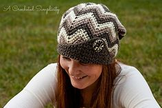 """""""Chasing Chevrons"""" Slouch Crochet Pattern by A Crocheted Simplicity #crochet…"""
