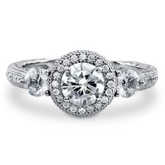 Enter #BerriclePinToWin for $500 in prizes! Enter page >> https://www.berricle.com/giveaway Sterling Silver Round Cubic Zirconia 3 Stone Ring