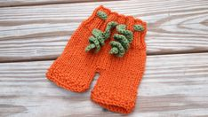 Newborn baby hand knitted PUMPKIN PANTS great for by MyLittleKnits, $25.00
