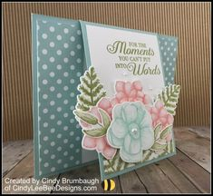 Stampin' Up Painted Seasons with Lasting Lily Front Flip Fold Video Tutorial – Cindy Lee Bee Designs Flip Cards, Fun Fold Cards, Folded Cards, Stampin Up, Diy Papier, Stamping Up Cards, Card Tutorials, Card Sketches, Sympathy Cards