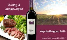 """Mit dem """"Volpolo"""" (so benannt in Anlehnung an die toskanische Rebsorte """"Volpola"""") erlebt der Weinfreund einen vornehmen, eleganten Wein mit schöner Würze und einprägsamen Aromen, intensiv und seidig, dabei raffiniert und körperreich. Ein Wein, der Spaß macht und dem man nicht umsonst eine Krone aufs Etikett gesetzt hat!"""