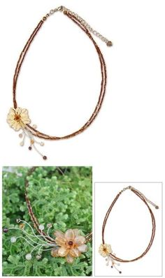 Other Asian E Indian Jewelry 11313: Honey Flower Thai Handmade Citrine Choker Necklace Novica BUY IT NOW ONLY: $30.79