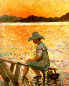 "urgetocreate: "" Henri Manguin, Saint Tropez Sunset, 1904 "" Le Siecle, Volupte, Giverny, Saint Tropez, Henri, Instagram Posts, Painting, Art, Blue Nails"