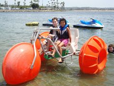 You can rent an Aqua-Cycle at Campland on the Bay, along San Diego's Mission Bay. #EpicSummerRun