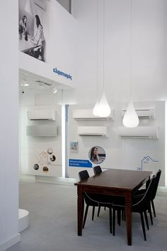Daikin Hellas's new retail concept was conceived through a creative problem solving process & strategic analysis, yielding a unique retail experience Black Wallpaper Iphone, Retail Concepts, Retail Experience, Showroom, Dining Table, Group, Store, Furniture, Ideas