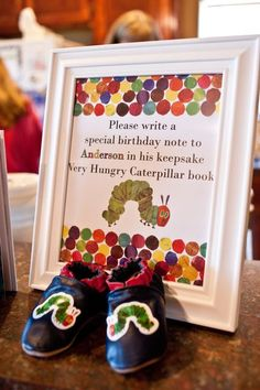 Save this pin -  The Very Hungry Caterpillar Birthday Party Ideas | Photo 16 of 46