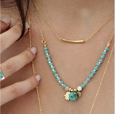 Layered necklace, so chic
