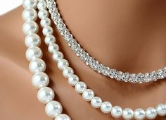 Hey, I found this really awesome Etsy listing at https://www.etsy.com/listing/129148884/bridal-necklace-pearl-rhinestone-wedding