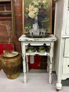 Shabby Chic End Table   $62  Dallas Vintage Market Booth #7777  White Elephant 1026 N. Riverfront Blvd. Dallas, TX 75207   Like us on Facebook: https://www.facebook.com/DallasVintageMarket?