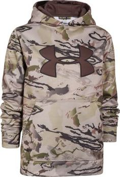 Under Armour® Youth Big-Logo Camo Hoodie Hunting Cabin, Hunting Gear, Deer Hunting, Combat Knives, Camo Hoodie, Diy Camping, Backpacker, Camouflage, Under Armour