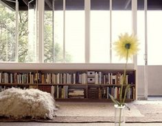 books and stuff! can be made with wood planks and concrete  blocks