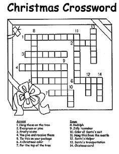 Christmas Crossword on crayola.com