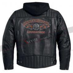 Burning Skull Harley Davidson Jacket #harleydavidsonleatherjackets