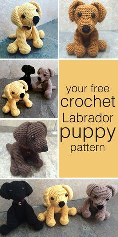 Crochet Dog Pattern Crochet Labrador How To Make Your Own Toy Dog The Labrador Site Crochet Dog Pattern Easy Dog Sweater Free Crochet Pattern Free Crochet Pets. Crochet Dog Pattern How To Crochet A Cute Toy Dog Diy Crafts Tutorial Gui. Crochet Diy, Crochet Gratis, Crochet For Kids, Crochet Dolls, Crochet Ideas, Simple Crochet, Simple Knitting, Crochet Food, Knitted Dolls