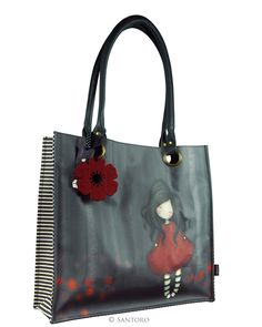 Gorjuss Large Coated Shopper Bag - Poppy Wood from Santoro
