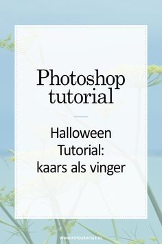Halloween Photoshop tutorial - kaars vinger - Fotografille