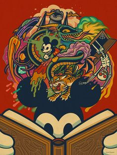 Dave Quiggle Mickey Print