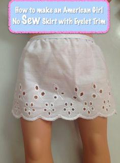 American Girl No Sew Skirt Tutorial