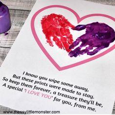 Handprint Poem - An adorable handprint heart keepsake