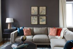 For bachelor Ravi who just bought a Harlem 2-bedroom apartment with a 400-square-foot terrace, Homepolish sent in designer Marissa Bero to add style and masculine charm to the space. The color palette and metal finishes were enlivened by touches of color.