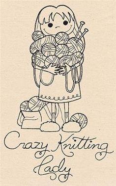 Crazy Knitting Lady_image