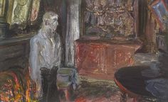 Jack B. Yeats – THE QUAY WORKER'S HOME, 1927, Oil on slateboard, 8¾ x 14in