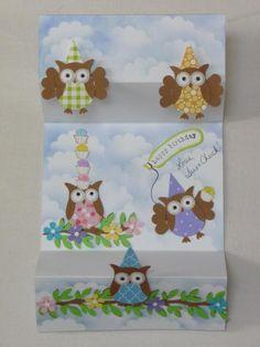 Split Owl Card