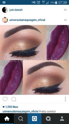 Gold and plum