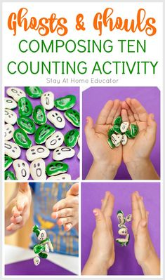 Ghosts and Ghouls Halloween Counting Activities for Preschoolers Counting Activities For Preschoolers, Homeschool Preschool Curriculum, Fall Preschool Activities, Numbers Preschool, Preschool Lesson Plans, Preschool Halloween, Number Activities, Diy Halloween, Halloween Activities