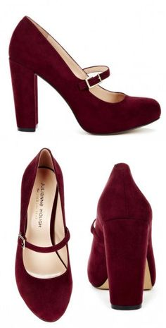 Burgundy Mary Janes <3 Such a Classic & Timeless Look .. Love!